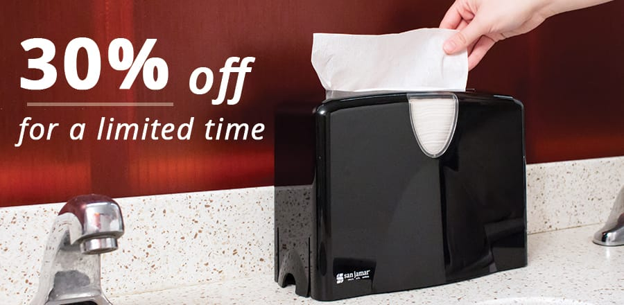 30% off for a limited time - Premium Covered Countertop Towel Dispenser