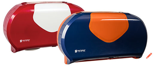 """Twin 9"""" Jumbo Toilet Tissue Dispenser"""