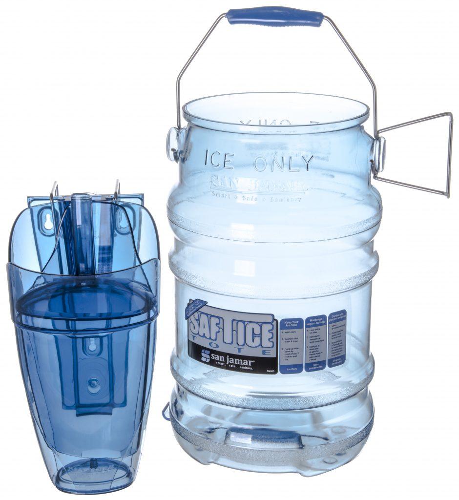 San Jamar SI6100 Original and Shorty Saf-T-Ice Tote 5 Gallon Capacity