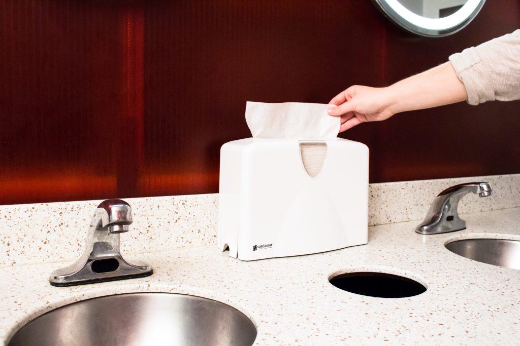 Premium Covered Countertop Towel Dispenser San Jamar